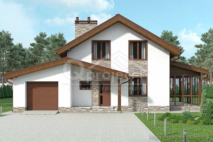 ddb28986c Проекти будинків з мансардою, каталог готових проектів котеджів ...
