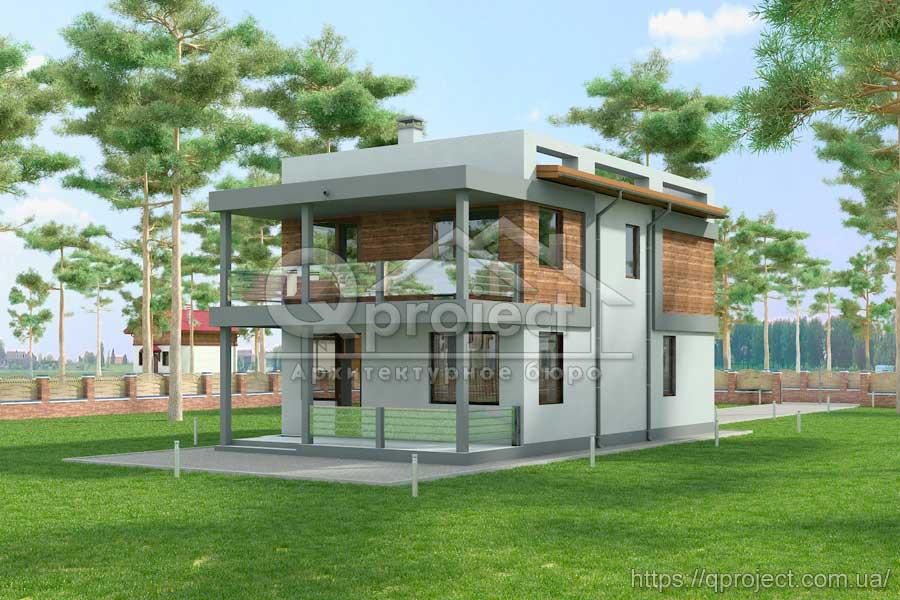 257ad1a60 ... Q3 Проект двоповерхового будинку в стилі хай-тек фото 3 ...