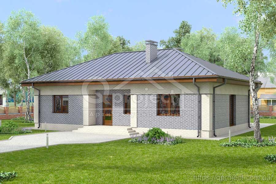 Проект одноповерхового будинку до 150 кв.м - Q2  452b7b814e64d